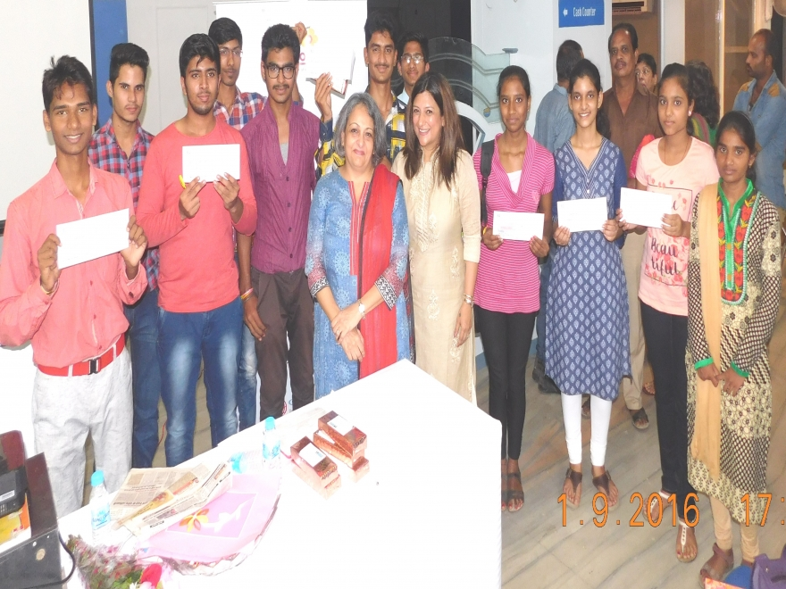 Scholarship Distribution at Indore  2016-17
