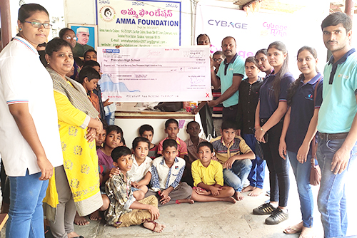 CybageKhushboo supports Amma foundation