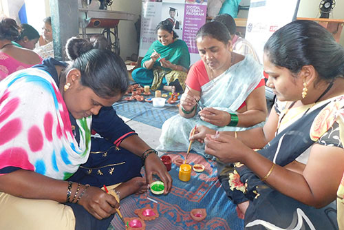 2019-10-11 Candle and diya making training program for adopted community